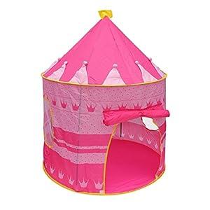d8bbdc2379 TataYang Tienda de campaña para niñas con Castillo de Princesa y Tienda de  campaña portátil para niños en Interiores y Exteriores