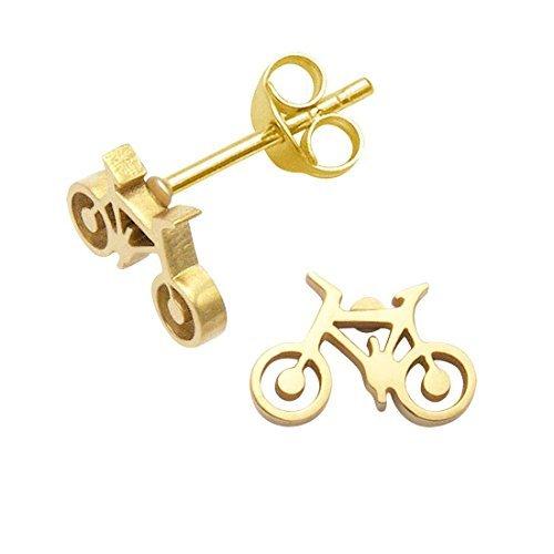 Tiny Necklaces Halskette Edelstahl Fahrrad Ohrstecker -
