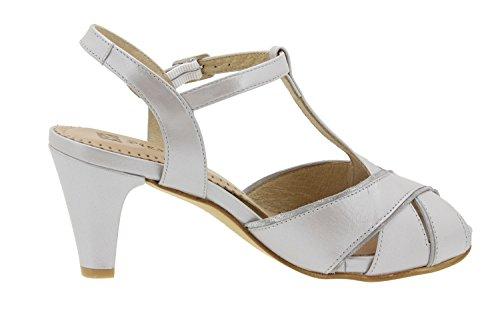 Chaussure femme confort en cuir Piesanto 6258 sandale escarpin chaussure confortables amples Gris