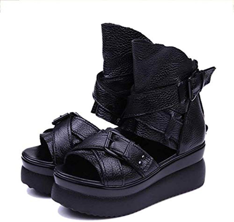 Fuxitoggo Sandalo da Donna in Pelle Antiscivolo Slipper Down Under Under Heur Wedge scarpe, A, 38 (Coloreee   A,...   Nuovo mercato    Scolaro/Signora Scarpa