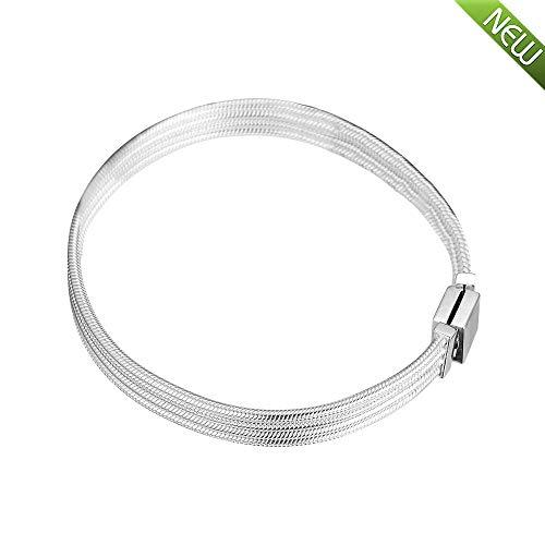 PANDOCCI 2019 frühling reflexionen Multi Schlangenkette Armband 925 Silber DIY Passt für Ursprüngliche Pandora Armbänder Charme Modeschmuck (18CM)