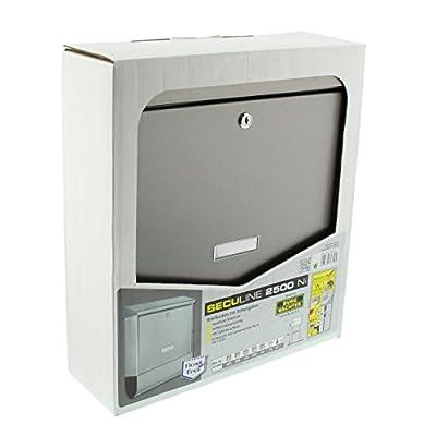 BURG-WÄCHTER, Briefkasten mit Zeitungsbox A4 Einwurf-Format, Verzinkter Stahl, Seculine 2500 Ni