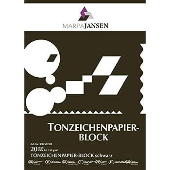 folia 6490 - Tonpapier schwarz, DIN A4, 130 g/qm, 100