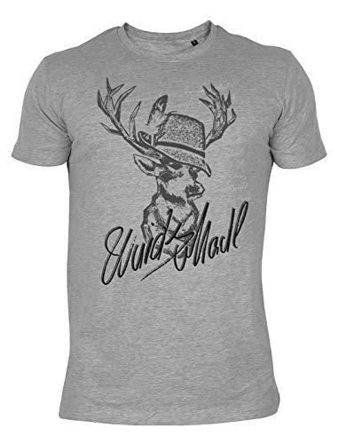 T-Shirt im Landhausstil: Hirsch Wuids MADL - Hirsch Herren T-shirt