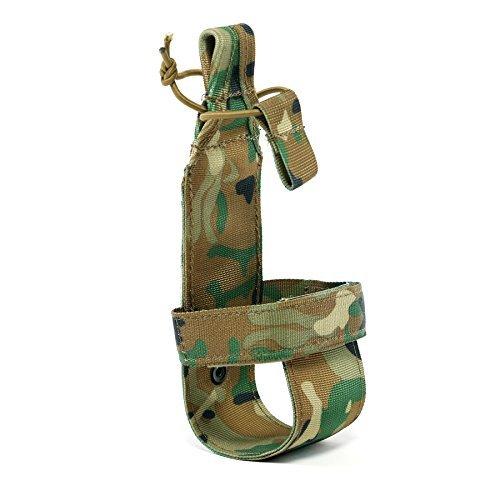 Yisibo Sistema Nylon minimalista tattico Molle Water Bottle Holder velcro Cintura in Corda con borraccia portabottiglie 10colori disponibili, Camouflage Pattern - Bottle Holder Cintura