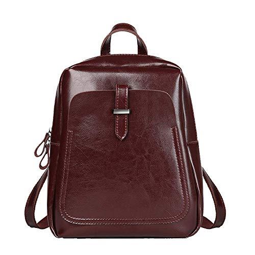 YUNY Damenrucksack - Fashion Einbruch Leder Tasche Retro Style Umhängetasche Eine Schulter Multifunktions Casual Rucksack Schwarz