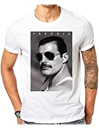 Queen Rock Band Freddie Mercury Tribute T-Shirt Fashion Men Clothing Short Sleeves Boy Cotton Men T Shirt Top…