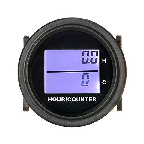 Runleader RL-HM005D Stundenzähler mit digitaler LCD-Anzeige für Boot Traktor Generator Motormäher Gabellicht CAT Paramotoren Ultraleichtschiffsmotoren Reiniger und