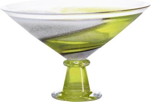 Kosta Boda Twister Bowl Footed Green (Ton Twister)