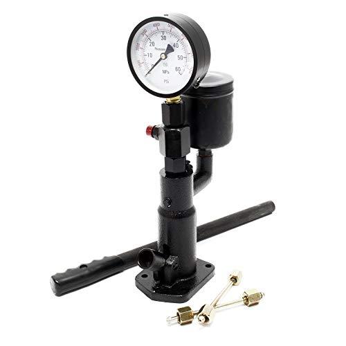 Diesel Einspritzdüsen Tester Prüfgerät Abdrückgerät Injektor 0-600 Bar Druck Manometer Handhebel