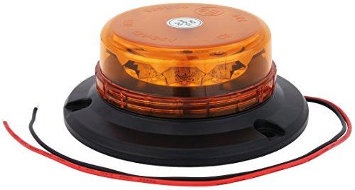 LED Rundumleuchte Orange Mit Aufschraubsockel, 12V und 24V Spannung, Blinkleuchte Warnleuchte Für Straßenverkehr KFZ Test