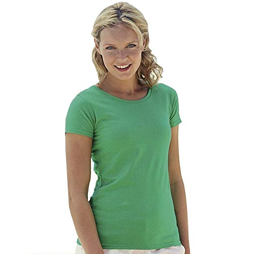 Fruit of the Loom Damen T-Shirt Valueweight T Lady-Fit 61-372-0 Kelly Green XXL (Green Kleider Kelly)