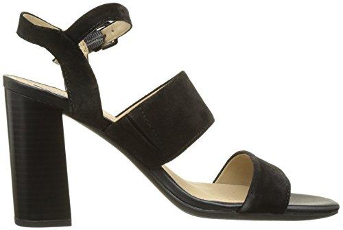 Geox D Audalies High Sandalo A, Sandales Bout Ouvert Femme Noir (BLACKC9999)
