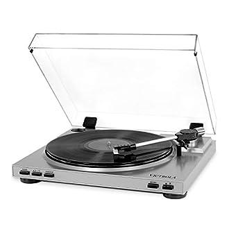 Victrola Pro Giradischi Automatico USB Conversione da Vinile a MP3 - Argento