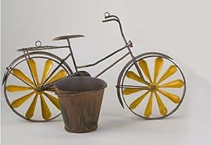 Wanddeko Wandbild Fahrrad Mit Pflanztopf Blumentopf Metall