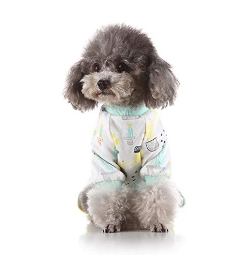 Hund Kostüme Outfit Cat Muster Komfortable Puppy Weiche Hund Jumpsuit Shirt 100% Baumwolle Mantel für kleine und mittlere Hunde XS-XL TWBB (Baseball Kostüm Muster)
