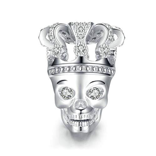 ANLW Halloween Schädel Charm fit Pandora Charm Armbänder 925 Sterling Silber Perlen, Alles Gute zum Geburtstag Bead Charms für Armband und Halskette, Frauen, Box-Paket