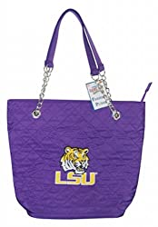 NCAA Louisiana State Fightin Tigers Ladies Quilted Purse with Chain Handle