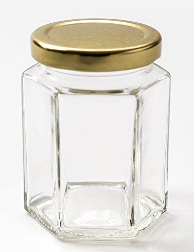 Nutley's sechseckiges Einmachglas, 190ml (40Stück)