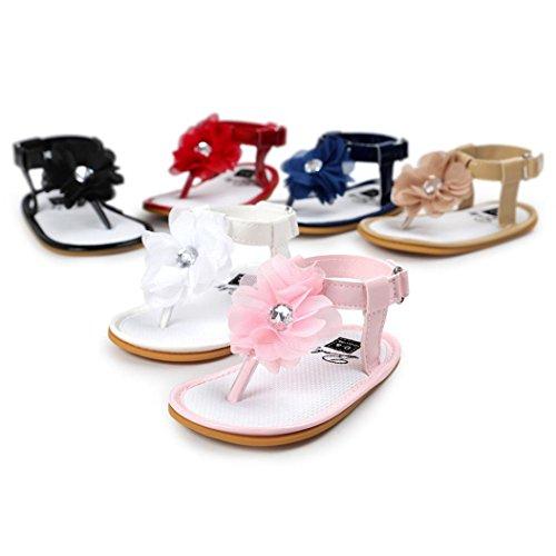 Coolster Bebé Flores Vermelhas Caminhantes Menina Sandálias Primeiros Bebê Única Berço Sapatos Infantil Macios wgwRaCqIT