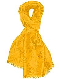 LORENZO CANA Foulard damas pour l`homme – écharpe noble avec les mesures de  55 x 190 cm - motif de fleurs - élégant et léger pour le… 1af6b446ff0