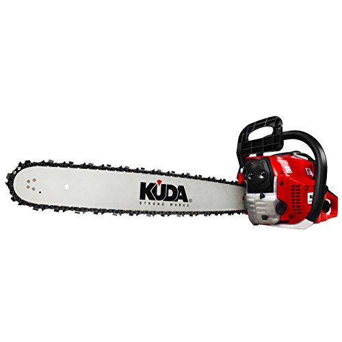 KUDA CN 52 Motosierra de Gasolina, 2 tiempos roja, espada 50 cm, 3 cv, 52 cc