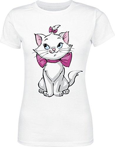Disney Aristocats Marie Girl-Shirt Weiß Weiß