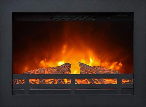 Bruciatore Elettrico da Incasso per Camini 1800W Ruby Fires Flandria Nero