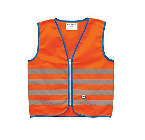 WOWOW WO00070 Gilet de sécurité Enfant Orange Fluo FR : S (Taille Fabricant : 5-7 ans)
