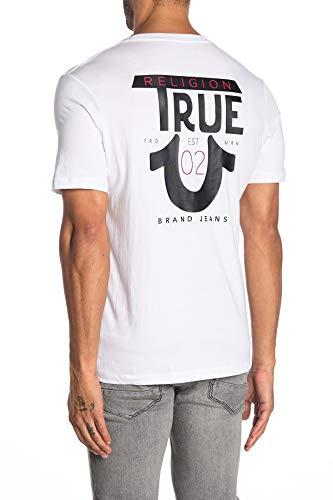 True Religion Herren T-Shirt TR Tee - Weiß - Mittel