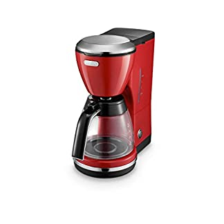 DeLonghi-ICMO210R-Filterkaffeemaschine-Edelstahl-125-liters-rot