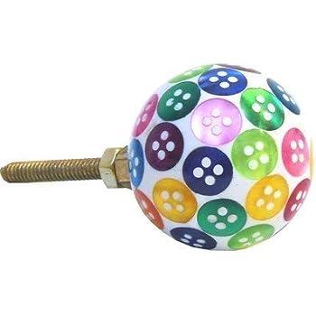 Pushka Home Multi Colour Button Resin Cupboard Door Knob. 35mm ...