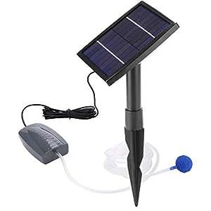Pompa Acqua Solare Stagno, Energia Solare con Aeratore Ossigeno Fontana Pompa per Laghetto Solari Ossigenatore Giardino