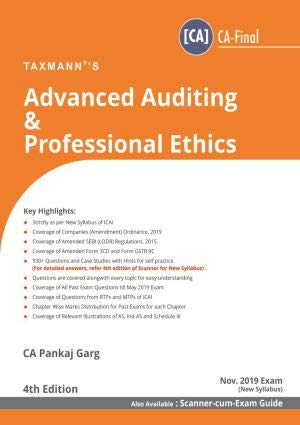 Advanced Auditing & Professional Ethics (CA-Final) (for Nov 2019 Exam-New Syllabus)(4th Edition June 2019)
