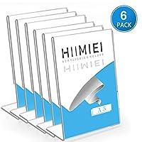 HIIMIEI Acrylic L Sign Holder Menu Stand