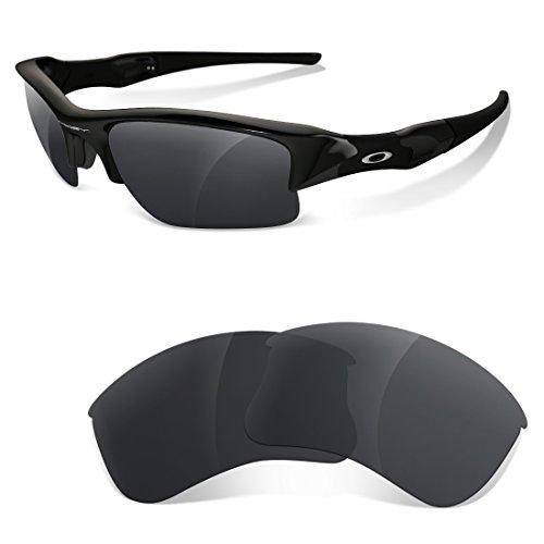 sunglasses restorer Kompatibel Ersatzgläser für Oakley Flak Jacket XLJ, Polarisierte Black Iridium