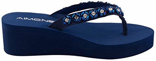 AIMONEHabib - Scarpe con plateau donna Blu (Blu)