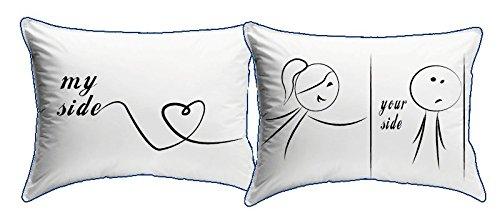 My custom style coppia cuscini san valentino -my side-your side- 75x45 blu
