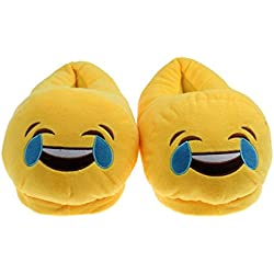 Banggood LOL Emoji Plush Warm Slippers Unisex Cozy Anti-Slip Home Shoes Women/26 cm
