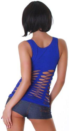 B & x débardeur pour femme en en maille Bleu - Bleu