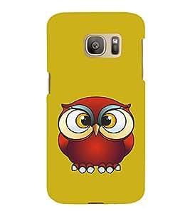 HiFi Designer Phone Back Case Cover Samsung Galaxy S7 :: Samsung Galaxy S7 Duos :: Samsung Galaxy S7 G930F G930 G930Fd ( Owl Expression Colorful Pattern Design )
