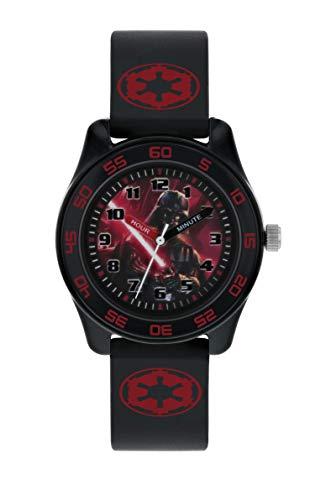 Star Wars Reloj Analógico para Niños de Cuarzo con Correa en Caucho DAR9009