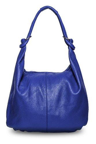 Borsa A Spalla Monaco Bag4less Da Donna, Nappa 11x37x46 Cm Blu