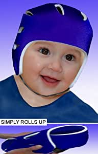 BUMPETTA- Multi-Award Winning Safer Cushioned Headwear helps excitable and unpredictable infants to play and explore in a safer environment. Ideal for toddlers learning to walk and for kids discovering a world of unforgiving hard surfaces. Perfect at Home in the Garden or Playground. Bumpetta SIMPLY ROLLS UP SMALL so it's also great to take on holiday as it can additionally be used in and around unfamiliar bustling and very slippery hotel swimming pools and Water parks. Already used by many of the Worlds top family holiday companies. Weighs just 70grams(2.4oz), 100% Cotton Jersey lined.- THIS SIZE TO FIT: 2 - 4 YEARS OLD- Colour: NAVY. (FOR OTHER SIZES & COLOURWAYS TYPE IN BUMPETTA (in the all departments section)IN AMAZON TOOL BAR)
