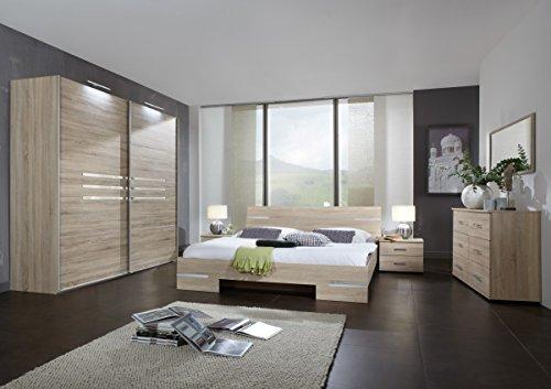 Dreams4Home Schlafzimmerkombination 'Kalabri V', Schrank, Bett, Nachtschrank, Schlafzimmer komplett, Selbsteinzug:mit...
