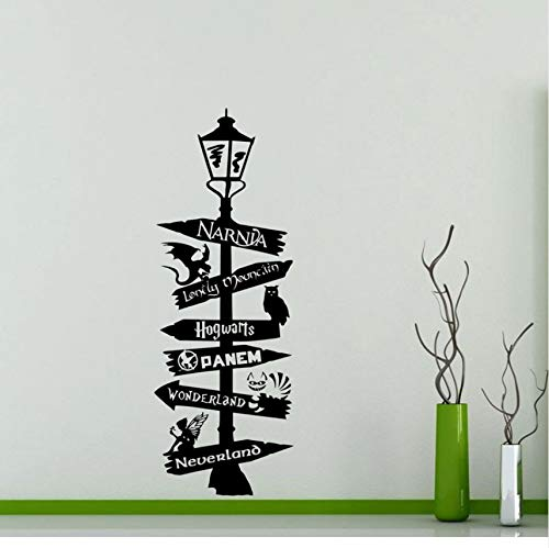Knncch Straßenschild Wandtattoo Poster Narnia Alice Wonderland Zitat Zeichen Geek Geschenk Vinyl Aufkleber Kunstdekor
