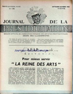 JOURNAL DE LA PRESTIDIGITATION [No 174] du 01/09/1953 - LA REINE DES ARTS.