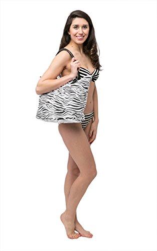Borsa da Mare Borse Spiaggia Signore grande tela Borsa da spiaggia - Design stampa animalier Zebra