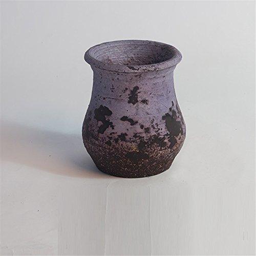NOHOPE Retro Keramik Vasen Emulation Blume sukkulenten Pflanzen Blume Container Home Decor grobe Keramik Blumentopf Ornamente,E/10*12cm