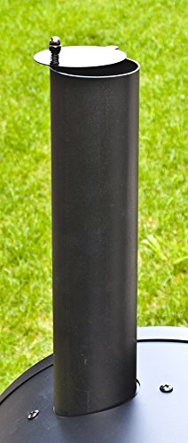 El Fuego Holzkohlegrill/Smoker Dakota, Schwarz, 122x133x66 cm - 9